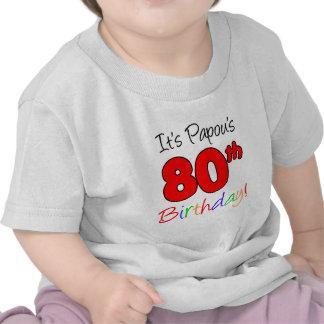 Papou s 80th Birthday Shirt