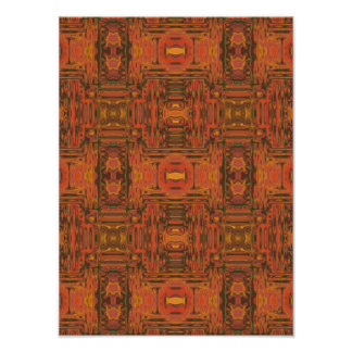 Paprika Mood Digital Pattern Abstract Poster