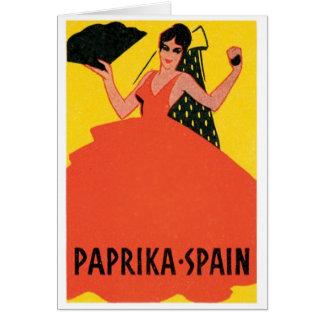 Paprika Spain VIntage Label Greeting Card