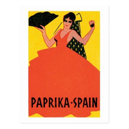 Paprika Spain VIntage Label Post Cards