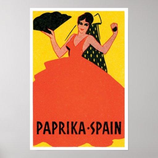Paprika Spain VIntage Label Posters