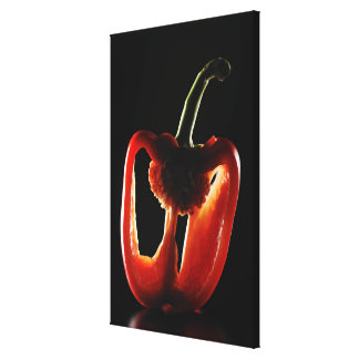 Paprika,Vegetable,Black background Canvas Print