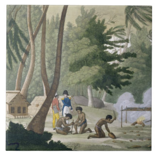Papu tribe on the Isle of Rawak, plate 20 from 'Le Tile