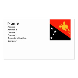 Papua New Guinea Business Card Template