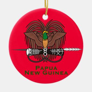 Papua New Guinea* Ceramic Christmas Ornament