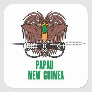 PAPUA NEW GUINEA - emblem/flag/coat of arms/symbol Square Sticker
