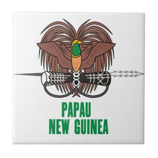 PAPUA NEW GUINEA - emblem/flag/coat of arms/symbol Tile