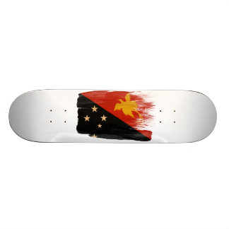 Papua new Guinea Flag 20 Cm Skateboard Deck