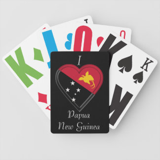 Papua New Guinea flag Bicycle Playing Cards