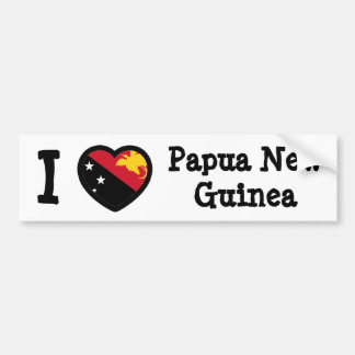 Papua New Guinea Flag Bumper Sticker