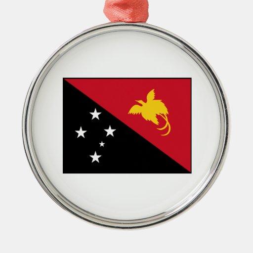 Papua New Guinea Flag Christmas Ornaments