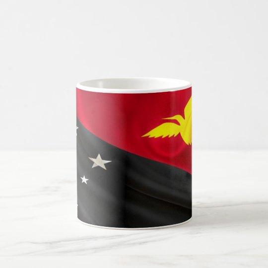 Papua New Guinea Flag Fabric Coffee Mug