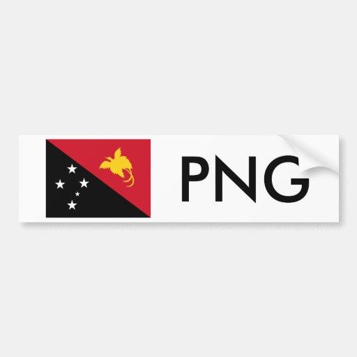 Papua New Guinea Flag & PNG Bumper Sticker