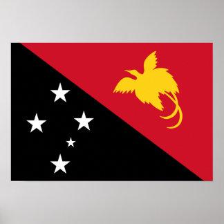 Papua New Guinea Flag Poster