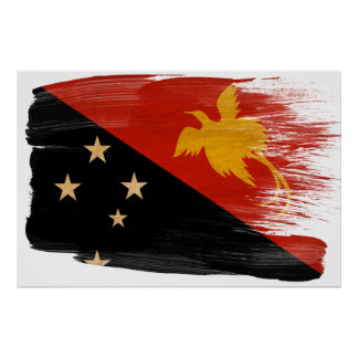 Papua new Guinea Flag Posters