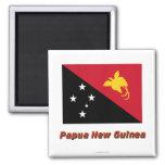 Papua New Guinea Flag with Name