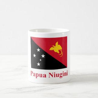 Papua New Guinea Flag with Name in Tok Pisin Mugs