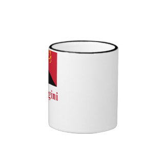 Papua New Guinea Flag with Name in Tok Pisin Ringer Coffee Mug