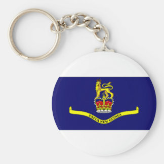 Papua New Guinea Governor General Flag Basic Round Button Key Ring