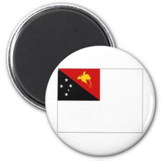 Papua New Guinea Naval Ensign 6 Cm Round Magnet