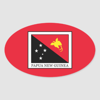 Papua New Guinea Oval Sticker