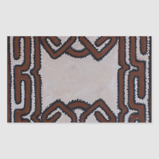 Papua New Guinea Tapa Cloth Rectangular Sticker