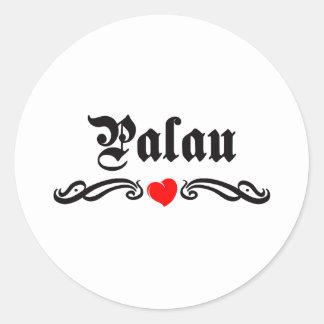 Papua New Guinea Tattoo Style Classic Round Sticker