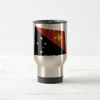 Papua New Guinea Waving Flag Stainless Steel Travel Mug