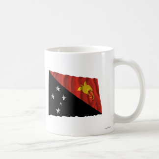 Papua New Guinea Waving Flag Basic White Mug