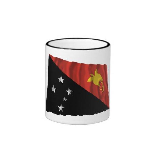 Papua New Guinea Waving Flag Mug