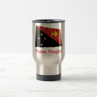 Papua New Guinea Waving Flag w Name in Tok Pisin Coffee Mugs