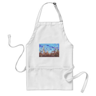 Papyrus and the mid-day sky. aprons