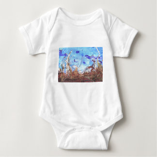 Papyrus and the mid-day sky. baby bodysuit