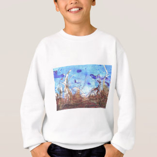 Papyrus and the mid-day sky. sweatshirt