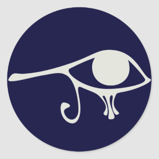 Papyrus Eye of Horus Round Sticker