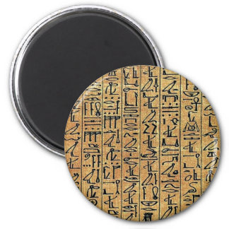 Papyrus Hieroglyphic 6 Cm Round Magnet