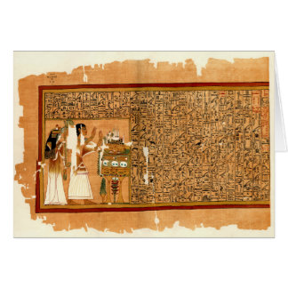 Papyrus of Ani - Book of the Dead Card