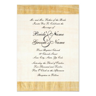 Papyrus Paper Wedding Invitation