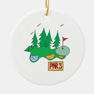 Par 3 christmas ornament