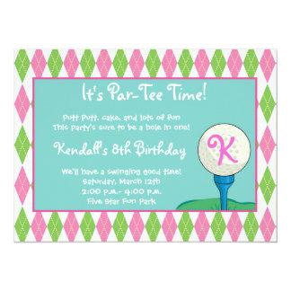 Par-Tee Time Girl 14 Cm X 19 Cm Invitation Card