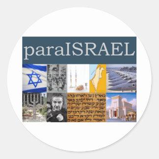 Para Israel Classic Round Sticker