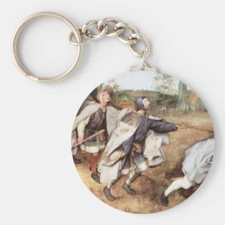 Parabal of the blind men by Pieter Bruegel Keychain
