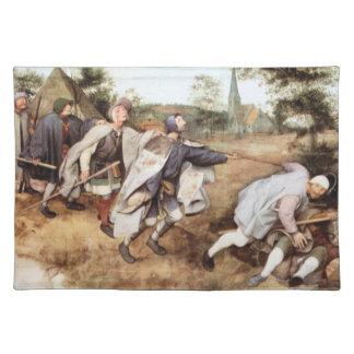 Parabal of the blind men by Pieter Bruegel Place Mat