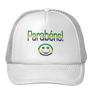 Parabéns! Brazil Flag Colors Cap