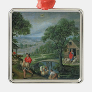 Parable of the Good Shepherd, c.1580-90 Christmas Ornament
