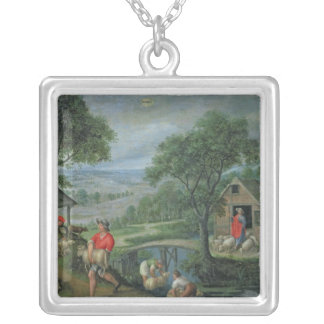 Parable of the Good Shepherd, c.1580-90 Silver Plated Necklace