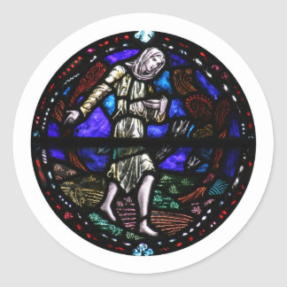 Parable of the Sower Stained Glass Art Sticker