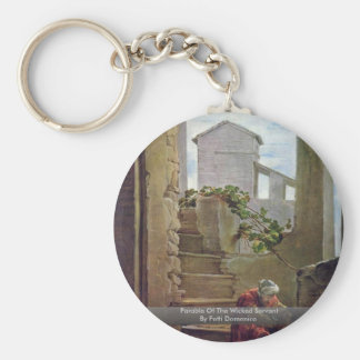 Parable Of The Wicked Servant By Fetti Domenico Basic Round Button Key Ring
