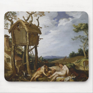 Parable of Wheat, Tares - Abraham Bloemaert (1624) Mouse Pad