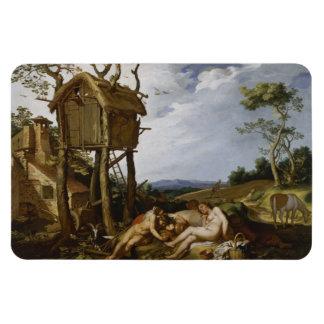 Parable of Wheat, Tares - Abraham Bloemaert (1624) Rectangular Photo Magnet